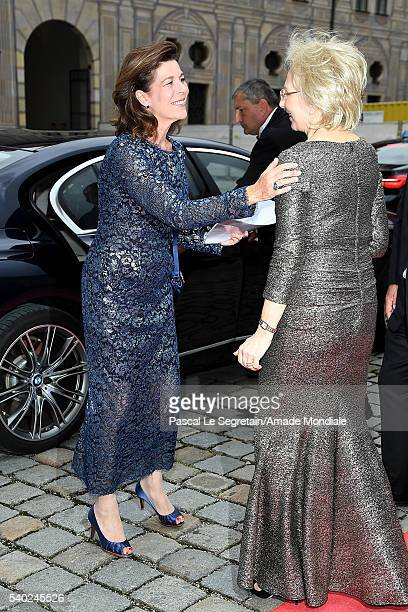 Princess Caroline of Hanover and Angelika Diekmann attend the AMADE Deutschland Charity dinner on June 14 2016 in Munich Germany