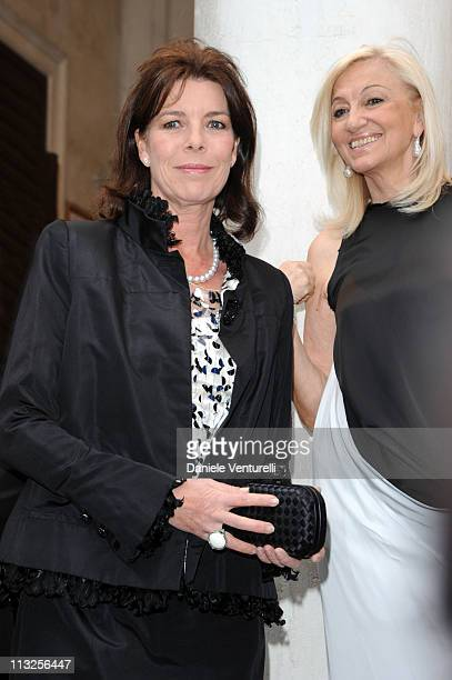 Princess Caroline of Hanover and Annalicia Balzan attend the Le Ballets de MonteCarlo 'Cendrillion' Gala Evening Bottega Veneta at Teatro Fenice on...