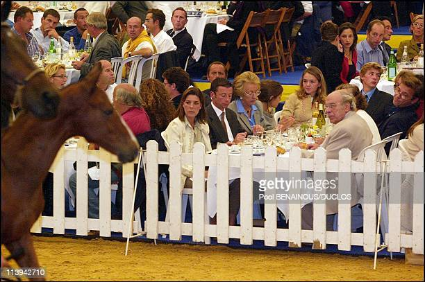 Princess Caroline of Hanover and children attend horse auction in Bois Le Roi France On September 07 2002Princess Caroline of Hanover Philippe Rozier...