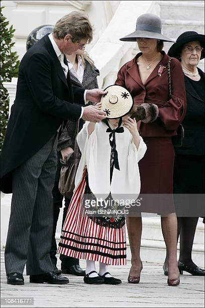 Princess Caroline of Hanover and Ernst August of Hanover Princess Alexandra of Hanover in Monte Carlo Monaco on November 19th2007