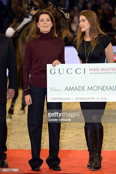 Princess Caroline of Hanover and Fernanda Ameeuw attend day 3 of the Gucci Paris Masters 2013 at Paris Nord Villepinte on December 7 2013 in Paris...