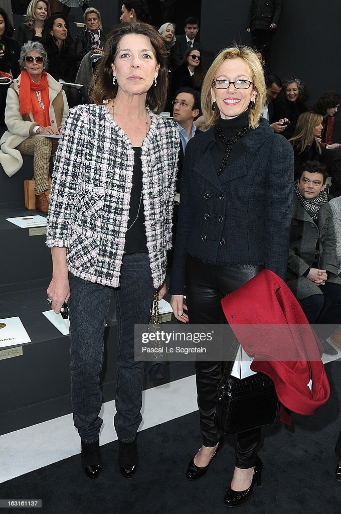 Princess Caroline of Hanover and Micheline Chaban attend the Chanel Fall/Winter 2013 Ready-to-Wear show as part of Paris Fashion Week at Grand Palais on March 5, 2013 in Paris, France.