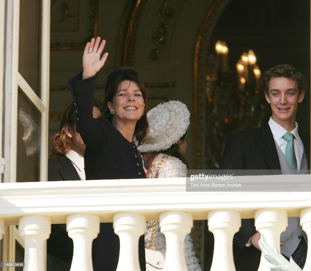 Princess Caroline of Hanover and Pierre Casiraghi during Monaco's National Day & Prince Albert II's Coronation - Palace at Palace in Monaco, Monaco.