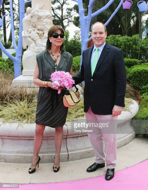 Princess Caroline of Hanover and Prince Albert II of Monaco visit the 43e Concours International de Bouquets and the 13th Reveries sur les Jardins...