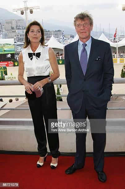 Princess Caroline of Hanover and Prince ErnstAugust of Hanover attend the International Jumping Show of Monte Carlo at Port Hercule on June 27 2009...