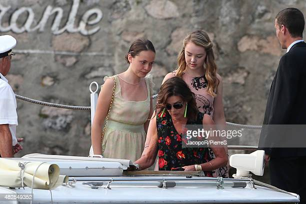Princess Caroline of Hanover and Princess Alexandra of Hanover are seen on July 31 2015 in Verbania Italy