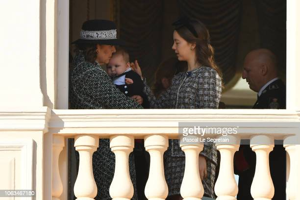 Princess Caroline of Hanover and Princess Alexandra of Hanover attend Monaco National Day Celebrations on November 19 2018 in MonteCarlo Monaco