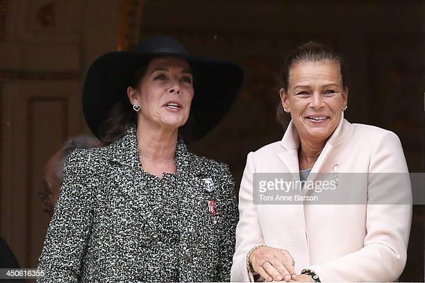Princess Caroline of Hanover and Princess Stephanie of Monaco attend the National Day Parade as part of Monaco National Day Celebrations at Monaco...