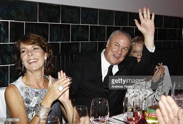 Princess Caroline of Hanover and Robert Wilson attend the 'Voluptuous Panic' Robert Wilson's 70th birthday dinner at Studio Elmgreen Dragset on...