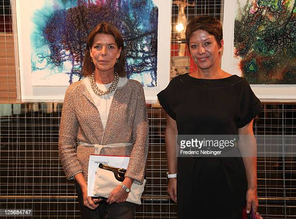 Princess Caroline of Hanover and Sibyle Szaggars attend the Arternativelight' Exhibition Launch at Chapiteau de Fontvieille on September 20 2011 in...