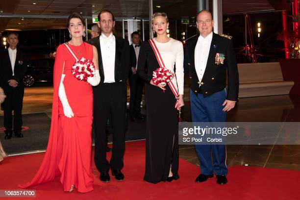 Princess Caroline of Hanover Andrea Casiraghi Princess Charlene of Monaco and Prince Albert II of Monaco attend a Gala during Monaco National Day on...