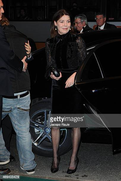 Princess Caroline Of Hanover arrives at AMADE Charity Dinner on February 14 2014 in Genoa Italy