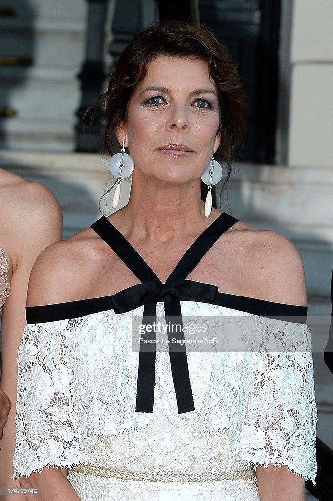 Princess Caroline of Hanover arrives at 'Love Ball' hosted by Natalia Vodianova in support of The Naked Heart Foundation at Opera Garnier on July 27, 2013 in Monaco, Monaco.