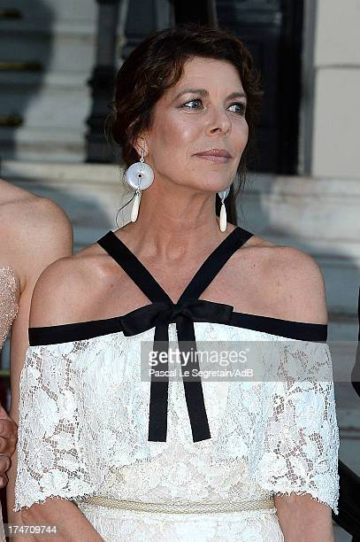 Princess Caroline of Hanover arrives at 'Love Ball' hosted by Natalia Vodianova in support of The Naked Heart Foundation at Opera Garnier on July 27...