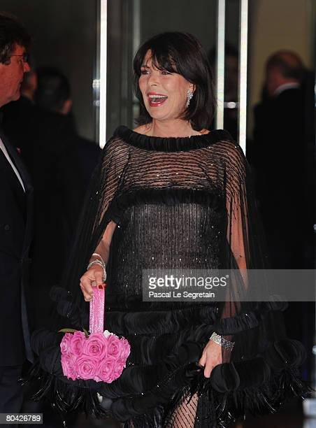 Princess Caroline of Hanover arrives at the 2008 Monte Carlo Rose Ball 'Movida' held at The Sporting Monaco on March 29 2008 in Monte Carlo Monaco