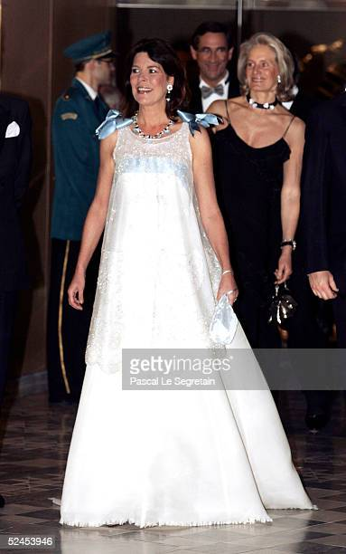 Princess Caroline of Hanover arrives at the Rose Ball 2005 at The Sporting Monte Carlo on March 19 2005 in Monte Carlo Monaco
