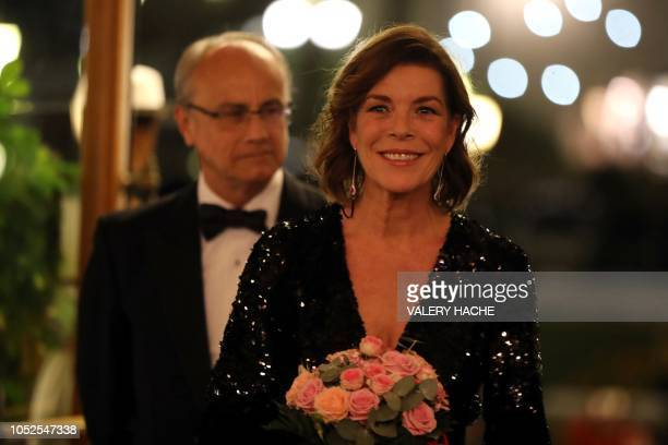 Princess Caroline of Hanover arrives for the Lights of gaming gala in casino of MonteCarlo on October 19 in Monaco