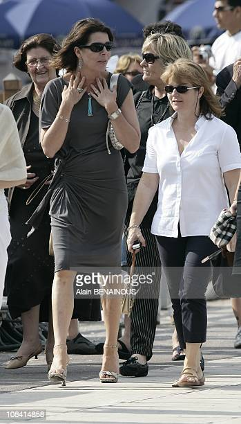 Princess Caroline of Hanover at the 13th Jumping in Monte Carlo Monaco on June 27 2008