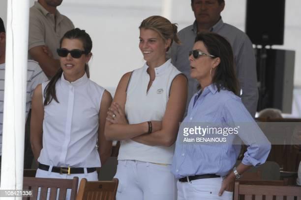 Princess Caroline of Hanover Athina Onassis Miranda and Charlotte Casiraghi in Monte Carlo Monaco on June 26th 2009