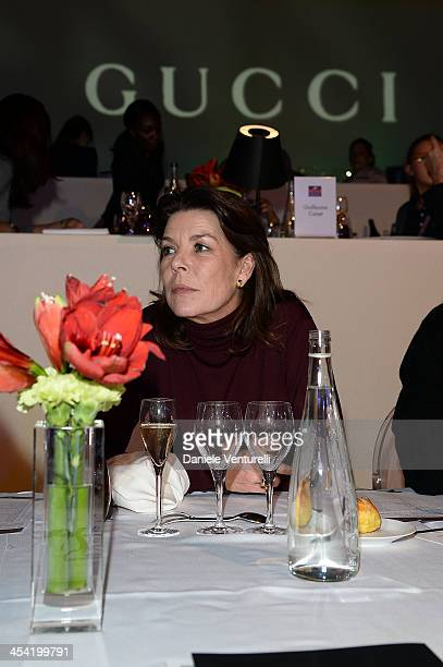 Princess Caroline of Hanover attends day 3 of the Gucci Paris Masters 2013 at Paris Nord Villepinte on December 7 2013 in Paris France