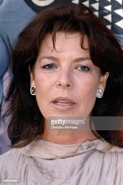 Princess Caroline of Hanover attends Graffiti Au Yacht Club De Monaco paint exhibition on May 19 2010 in Monaco Monaco