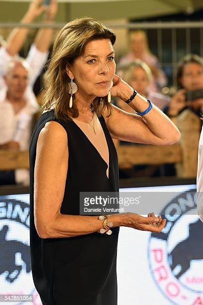 Princess Caroline of Hanover attends Longines Global Champions Tour of Monaco on June 24 2016 in Monaco Monaco