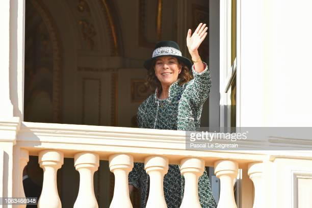 Princess Caroline of Hanover attends Monaco National Day Celebrations on November 19, 2018 in Monte-Carlo, Monaco.