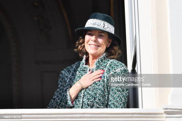 Princess Caroline of Hanover attends Monaco National Day Celebrations on November 19 2018 in MonteCarlo Monaco
