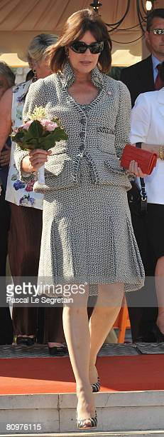 Princess Caroline of Hanover attends the 11th International Bouquet Contest on May 3 2008 in Monaco