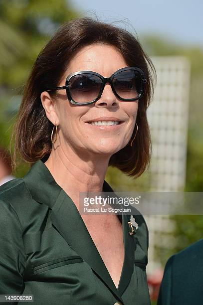 Princess Caroline of Hanover attends the 45th International Concours de Bouquets Opening on May 5 2012 in Monaco Monaco