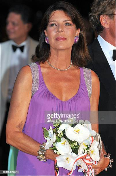 Princess Caroline of Hanover attends the 60th Red Cross Ball in Monte Carlo Monaco on August 01st 2008