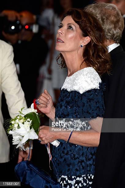 Princess Caroline of Hanover attends the 65th Monaco Red Cross Ball Gala at Sporting MonteCarlo on August 2 2013 in MonteCarlo Monaco