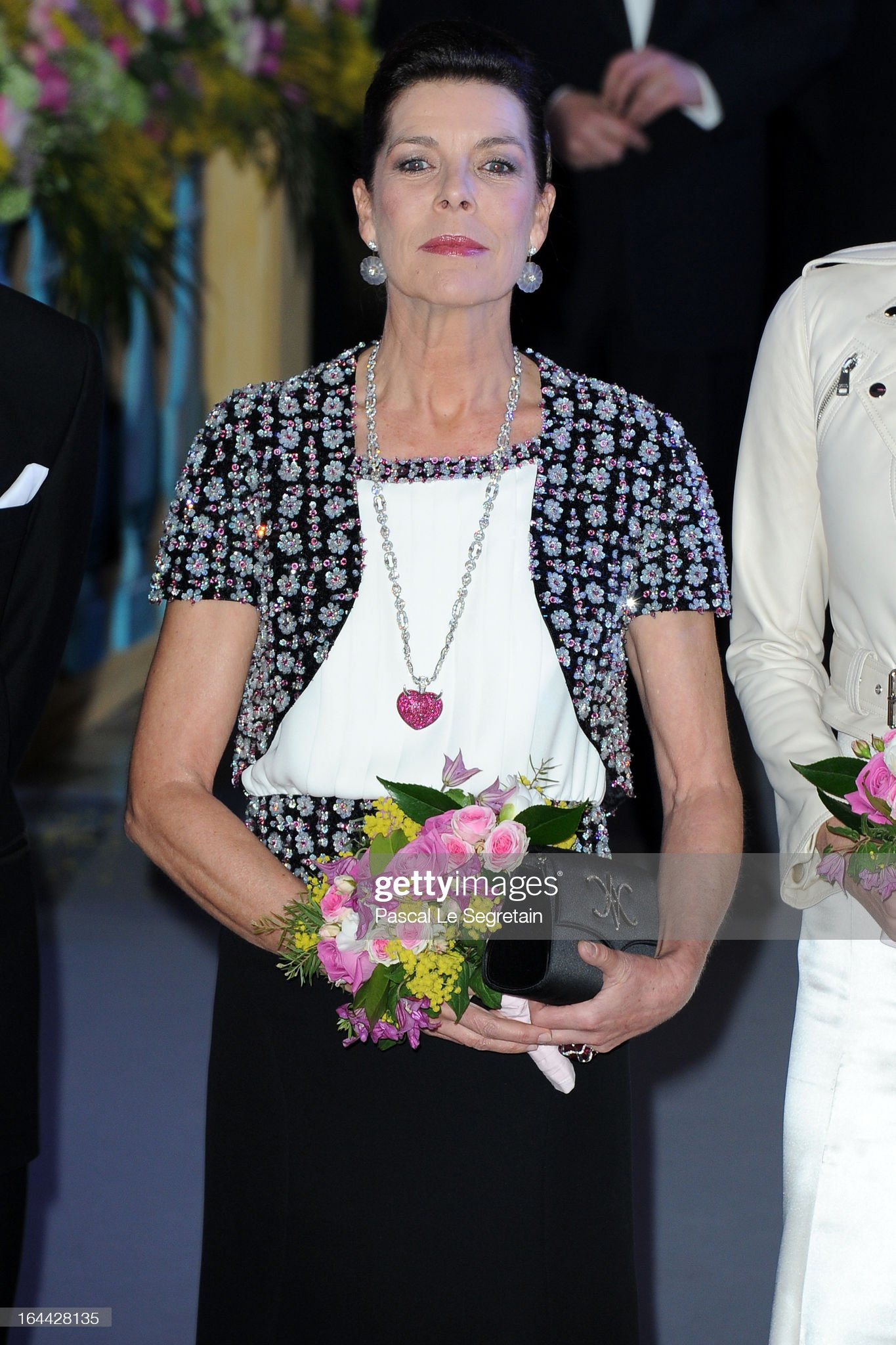 'Bal De La Rose Du Rocher' In Aid Of The Fondation Princess Grace - 150th Anniversary Of The SBM : News Photo