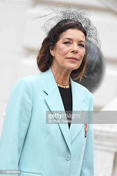 Princess Caroline of Hanover attends the celebrations marking Monaco's National Day at the Monaco Palace in Monaco 19 November 2019