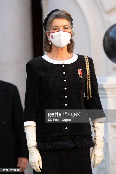 Princess Caroline of Hanover attends the celebrations marking Monaco's National Day at the Monaco Palace, on November 19, 2020 in Monte-Carlo, Monaco.