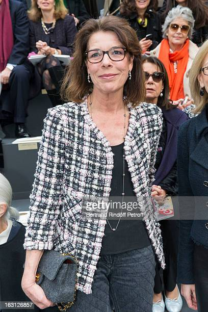Princess Caroline of Hanover attends the Chanel Fall/Winter 2013 ReadytoWear show as part of Paris Fashion Week at Grand Palais on March 5 2013 in...