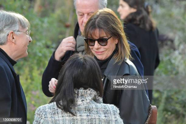 Princess Caroline of Hanover attends the Chanel Haute Couture Spring/Summer 2020 show as part of Paris Fashion Week on January 21 2020 in Paris France