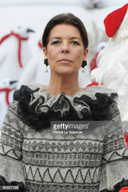 Princess Caroline of Hanover attends the Christmas Tree party at Monaco Palace on December 16, 2009 in Monaco.