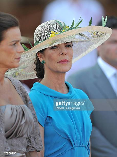 Princess Caroline of Hanover attends the civil ceremony of the Royal Wedding of Prince Albert II of Monaco to Charlene Wittstock at the Prince's...