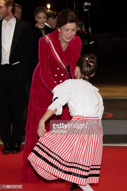 Princess Caroline of Hanover attends the gala at the Opera during Monaco National Day celebrations on November 19, 2019 in Monte-Carlo, Monaco.
