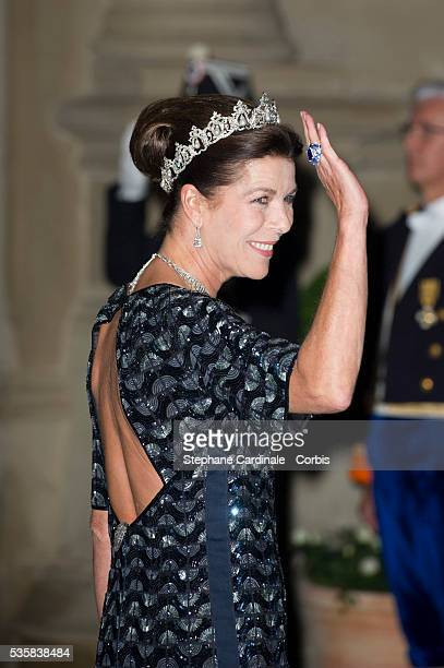 Princess Caroline of Hanover attends the Gala dinner for the wedding of Prince Guillaume of Luxembourg and Stephanie de Lannoy at the Grand-ducal...