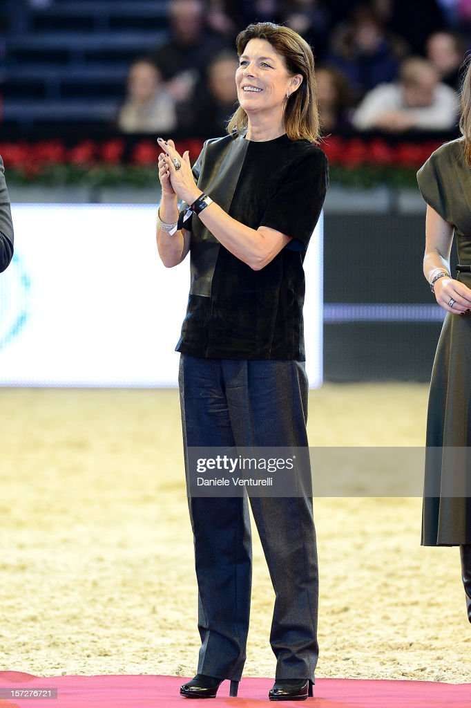 Princess Caroline of Hanover attends the Gucci Paris Masters 2012 at Paris Nord Villepinte on December 1, 2012 in Paris, France.