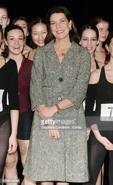 Princess Caroline of Hanover attends the Monaco Dance Forum an annual international dance meeting and festival Princess Caroline with a group of...