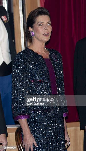 Princess Caroline Of Hanover Attends The Monaco National Day Gala Concert At Grimaldi Forum As Part Of Monaco National Day Celebrations In Monaco...