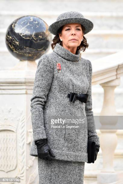Princess Caroline of Hanover attends the Monaco National Day Celebrations in the Monaco Palace Courtyard on November 19 2017 in Monaco Monaco