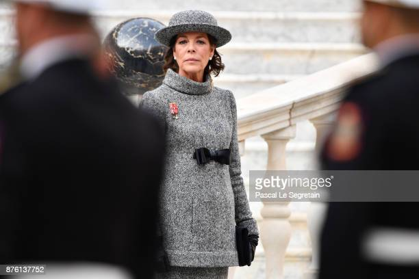 Princess Caroline of Hanover attends the Monaco National Day Celebrations in the Monaco Palace Courtyard on November 19 2017 in Monaco Monaco