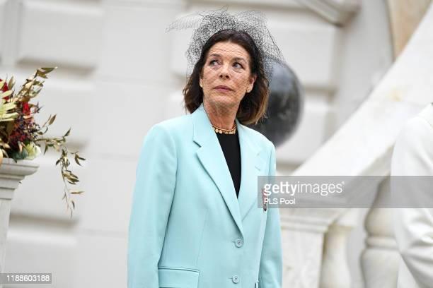 Princess Caroline of Hanover attends the Monaco National Day Celebrations on November 19 2019 in MonteCarlo Monaco