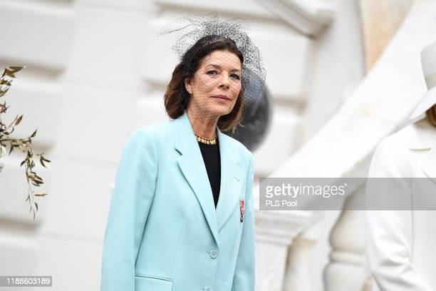 Princess Caroline of Hanover attends the Monaco National Day Celebrations on November 19 2019 in MonteCarlo Monaco