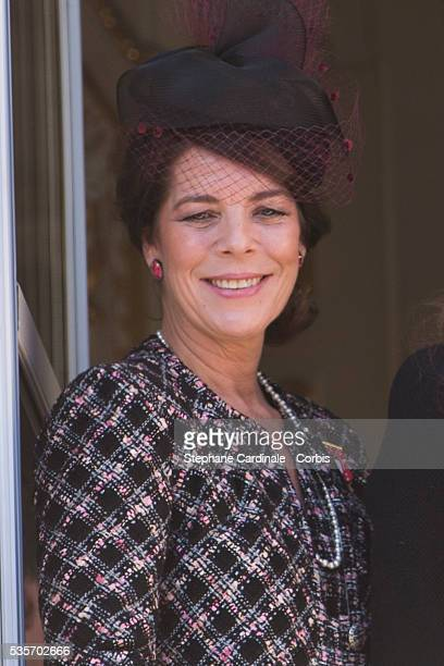 Princess Caroline of Hanover attends the National Day Parade as part of Monaco National Day Celebrations at Monaco Palace in Monaco