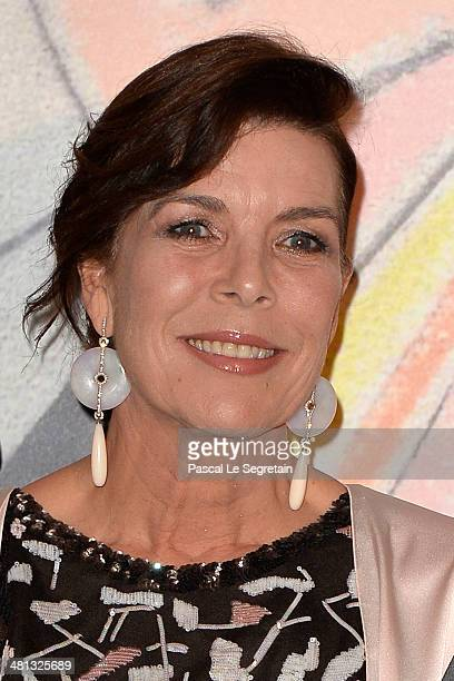 Princess Caroline of Hanover attends the Rose Ball 2014 in aid of the Princess Grace Foundation at Sporting MonteCarlo on March 29 2014 in MonteCarlo...
